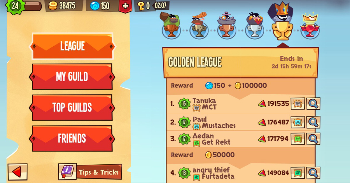 Thiết kế leaderboard trong game