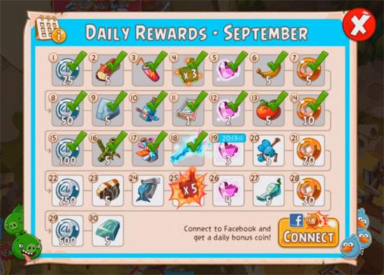 Mô hình Daily Rewards xoay vòng